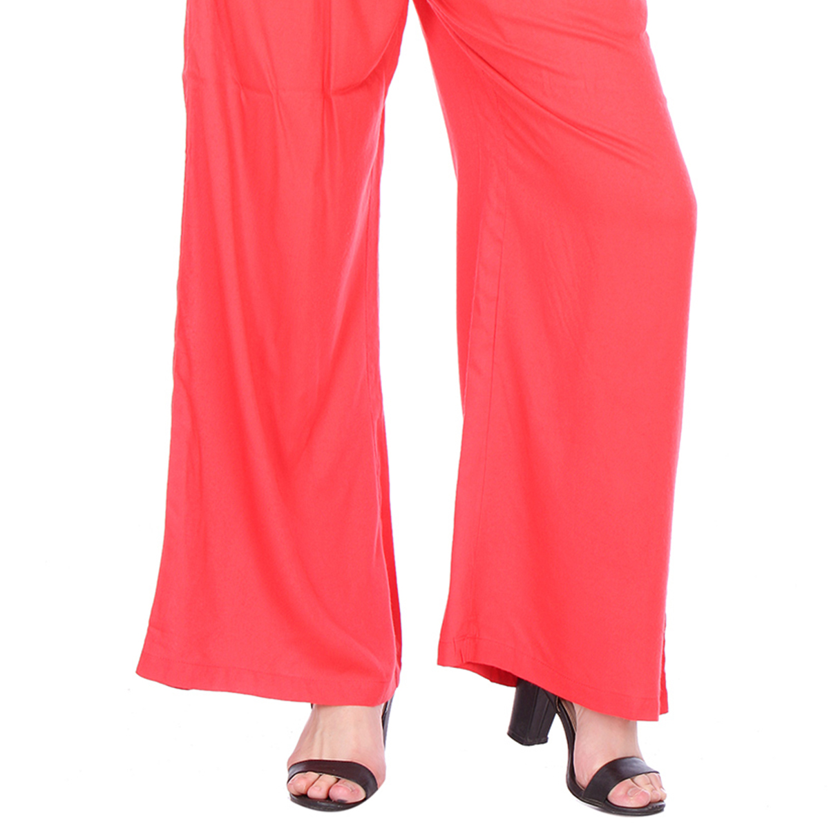Pink Casual Wear Cotton Palazzo