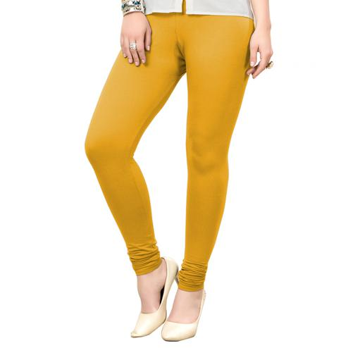 Mesmerising Yellow Colored Casual Wear Ankle Length Leggings