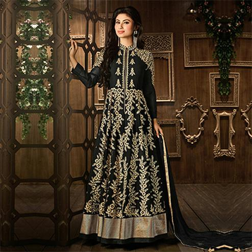Elegant Black Georgette Anarkali Suit
